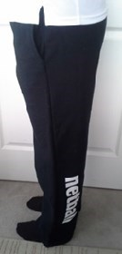 Ladies sweat pants, cuff ankles and banded waist